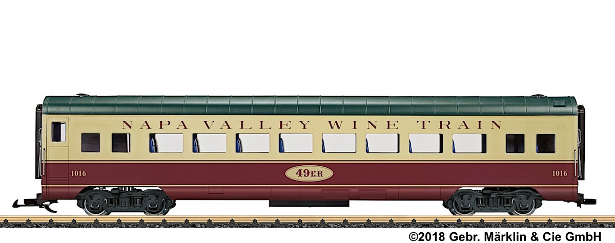 Napa Valley Railroad Personenwagen (Passenger Car) 1016, 49er