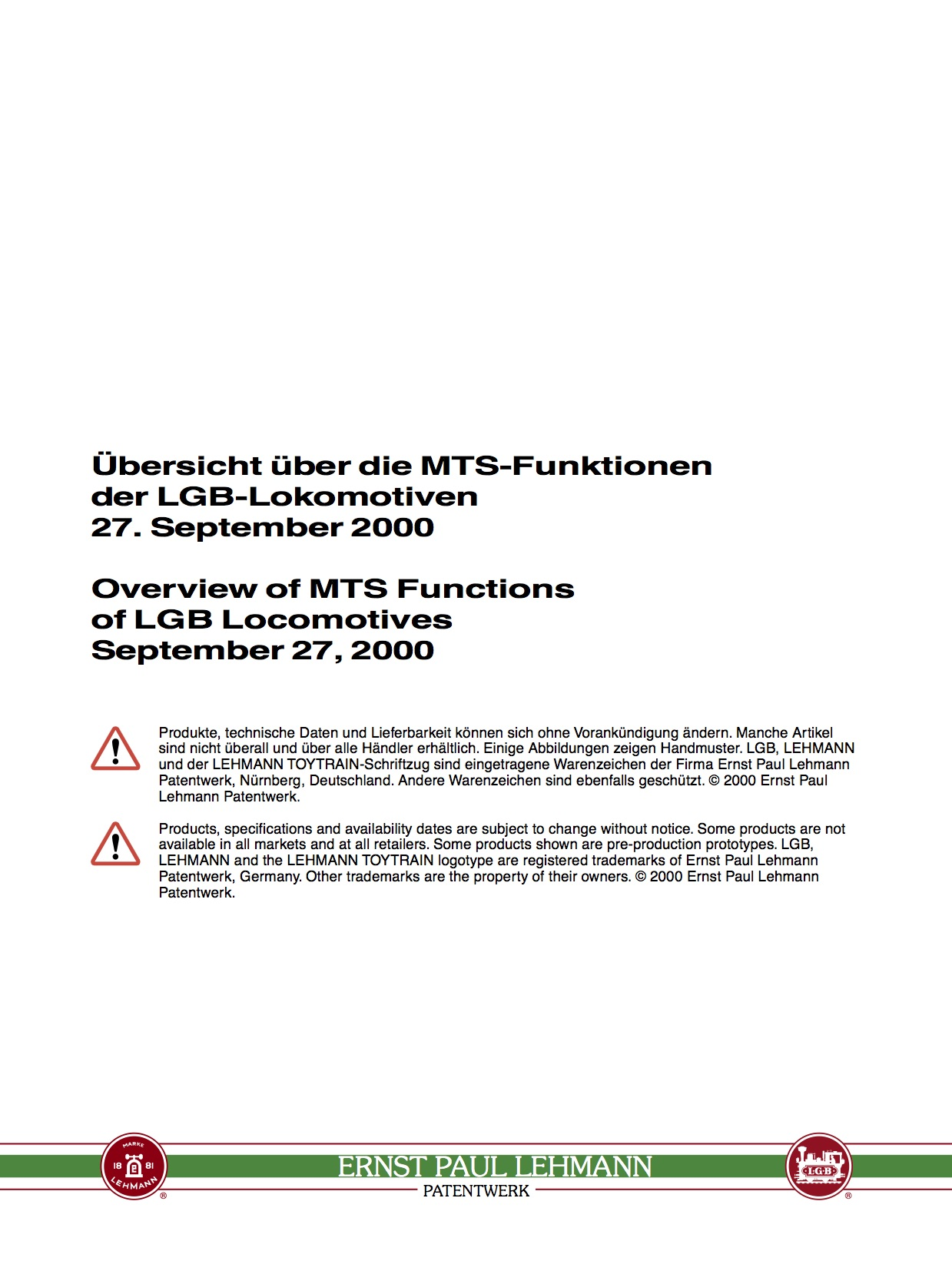 LGB White Paper - MTS Functions (2002)