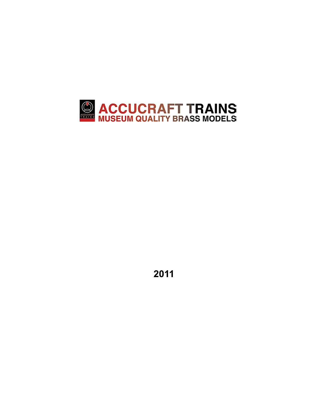 Accucraft Katalog (Catalogue) 2011