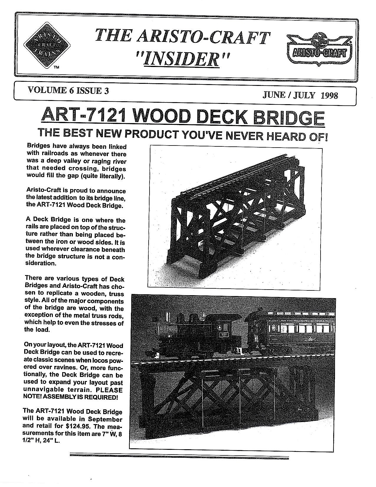 Aristocraft Insider - 1998, Iss. 3 (June/July)