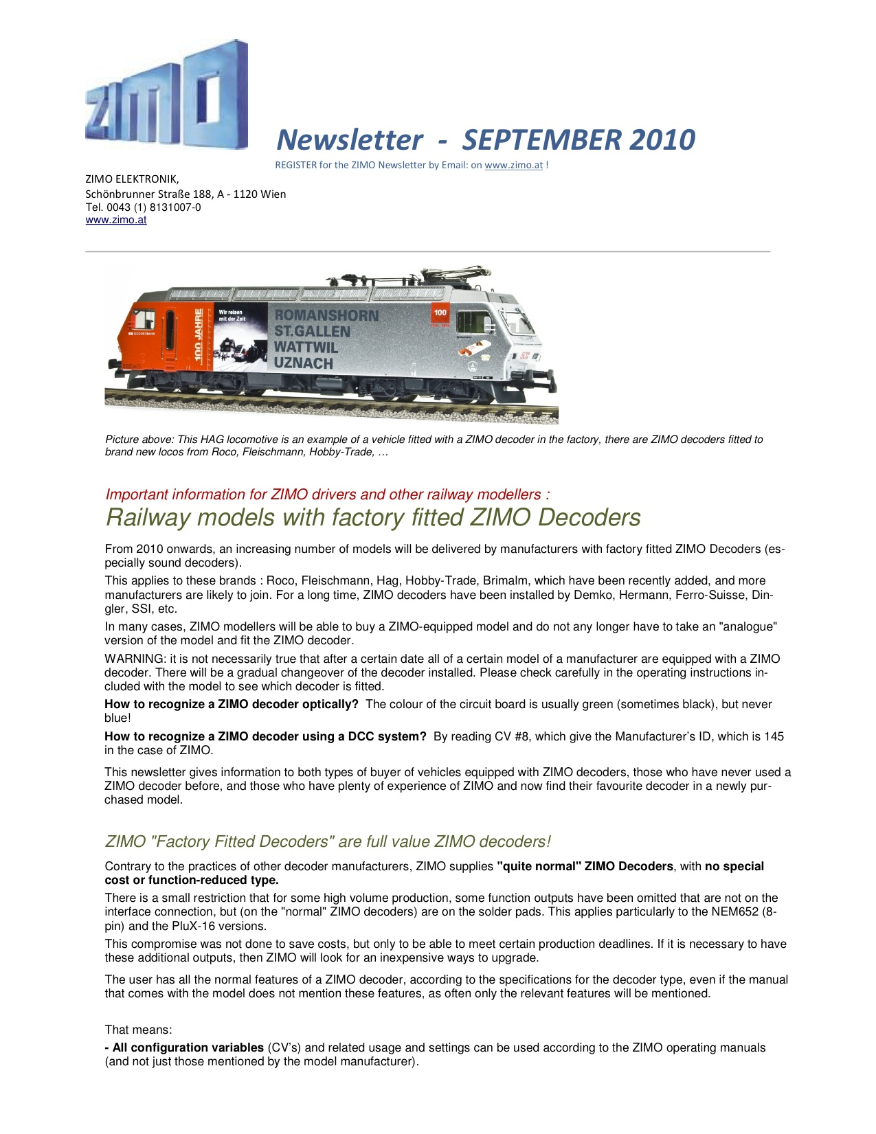 Zimo Newsletter - 2010-09 September (English)