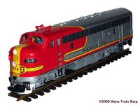 Santa Fe F7A Diesellok (Diesel locomotive) 329 (Decoder Interface)