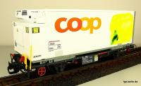 RhB coop® Containerwagen - Gelber Paprika (Container car - Yellow Paprika)