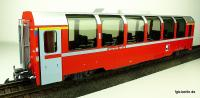 "RhB ""Bernina"" Panoramawagen, 1. Klasse (Panorama car, 1st class) Ap 1291"