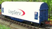 "Schiebeplanenwagen (Canvas covered flat car) Shimmns² ""LogServ"""