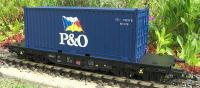 "DB Flachwagen (Flat car) & 20' Container  ""P&O"""