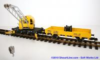 DB Kranwagen mit Beiwagen (Crane car with support car)
