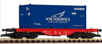 DB Flachwagen mit Container (Flat car with container) NYK Logistics