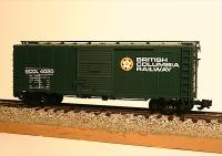 BC Rail 40-Ft Stahl Güterwagen, (Steel Box car) BCOL 4020