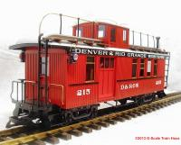 D&RGW Combine with Caboose (Drover's caboose) 215