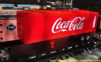 D&RGW Flachwagen mit Coca-Cola trailer (Flat car with Coke trailer) 54504