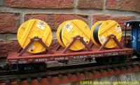 WP&Y flat car with cable reels