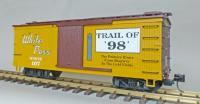 "WP&Y Box Car 107 ""Trail of '98' "" (linke Seite/ left hand side)"