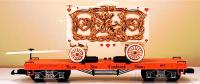 "Wilson Brothers Circus Flachwagen mit Tableau-Wagen (Flat car with ""tableau"" wagon)"