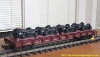 C&S Flachwagen mit Drehgestellen (Flat car with bogies/trucks) 835