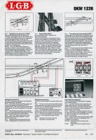 LGB Betriebsanleitung DKW (LGB Double slip switch instructions) 1986