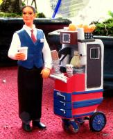 Barwagen mit Servicepersonal (Bar trolley with service personnel)