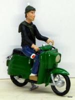 Moped mit Fahrer (Moped with driver)
