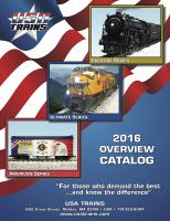 USA Trains Katalog (Catalogue) 2016