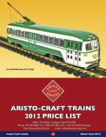 Aristo-Craft Preisliste 2012 (price list 2012)