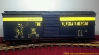 Alaska Railroad gedeckter Güterwagen (Box car) 1965