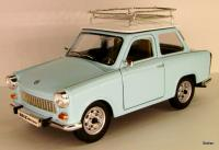 Trabant (East German Automobile) 601 hellblau mit Dachträger/ light blue with roof rack