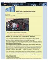 Zimo Newsletter - 2010-12 Year End 2010 (English)