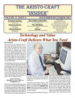 Aristocraft Insider - 2004, Iss. 6 (Nov/Dec)