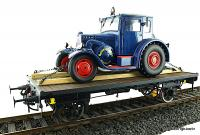 Flachwagen mit Ladung (Flat car with load)