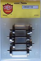 Crest Metallachsen (Metal wheels) for 100 ton hopper & Evans car, 29 mm