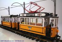 Strassenbahn Triebwagen + Beiwagen (Steetcar trolley with trailer)