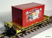 Weihnachtscontainerwagen (Christmas container car)