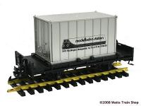 Modellbahn-Station Container Wagen