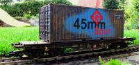 "DB Flachwagen (Flat car) & 20' Container ""G 45mm Spur"""